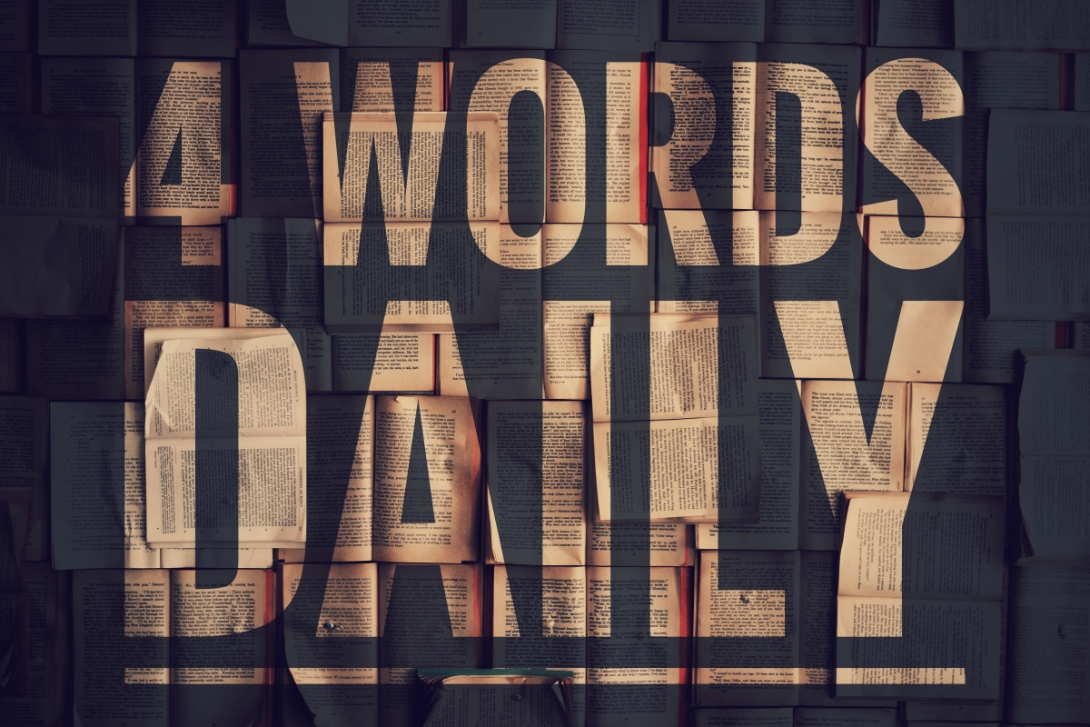 4 Words Daily - The beginning: Day 1